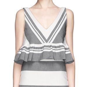 Elizabeth and James Striped Cropped Top